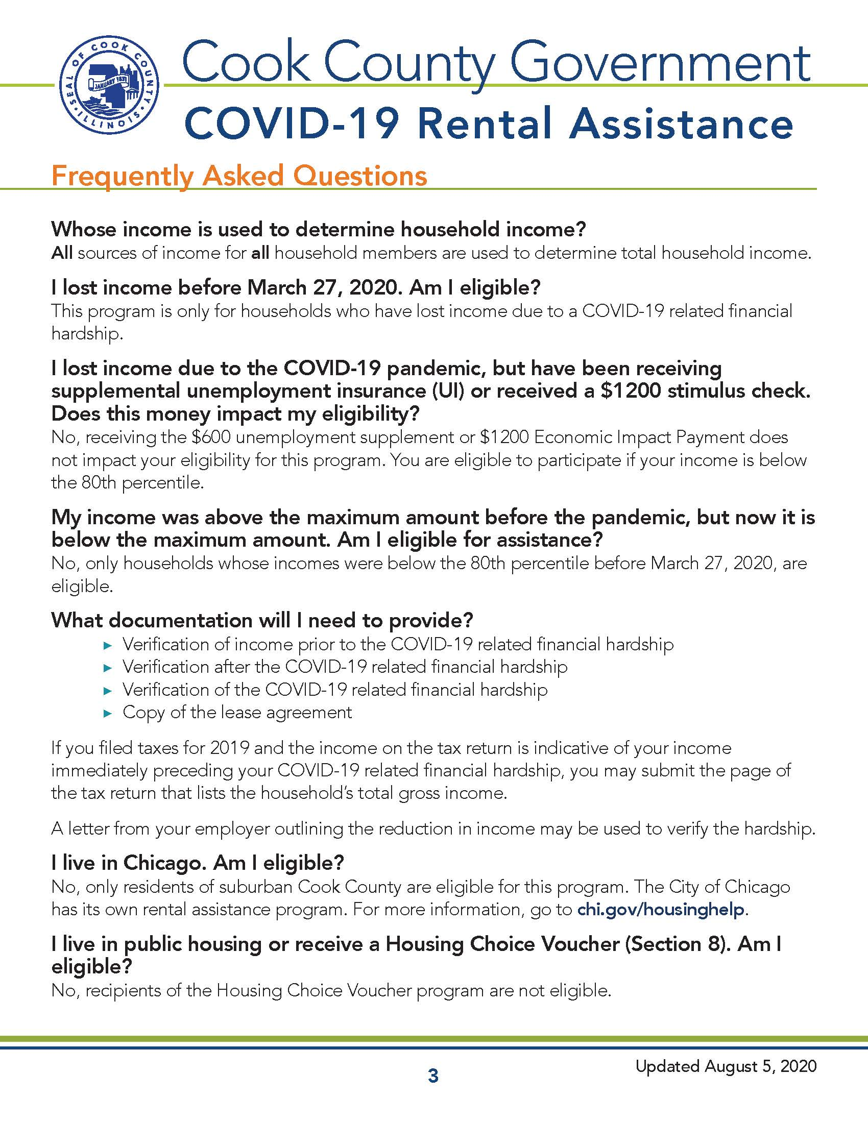 Cook County COVID-19 Recovery - Rental Assistance Overview Page 3