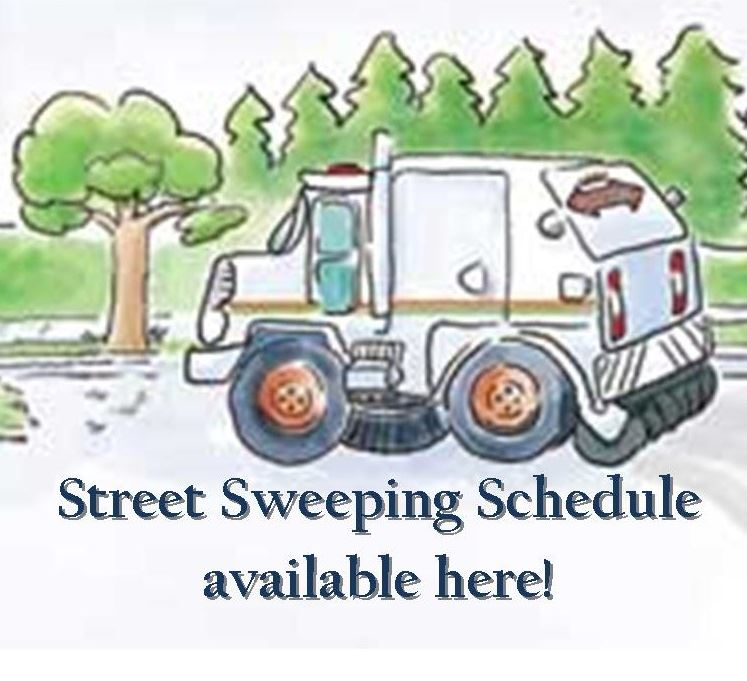 Street Sweeping Schedule available under Public Works!!!